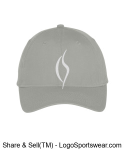 Embroidered Gray Hat Design Zoom
