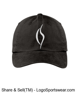 Embroidered Black Hat - Ladies Design Zoom